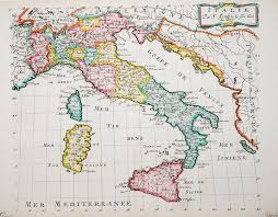 Itsly Map Antiquemaps Fair Map View Rare Old Antique Map Italy
