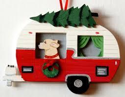 yellow labrador retriever lab retro cer trailer ornaments