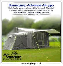 Sunncamp 390 Porch Awning Sunncamp Advance 390 Air Heavy Duty Inflatable Awning