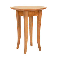 lyndon furniture round flare leg end table classic shaker