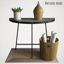 Pottery Barn Sausalito Pottery Barn Quinton Galvanized Demilune Console Table By Erkin Aliyev