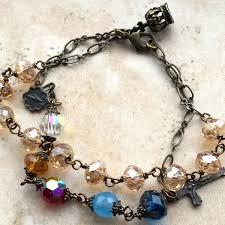 bracelet rosary glorious mysteries multi gemstone rosary bracelet free shipping