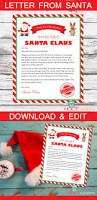 father christmas letter templates free 25 best letter from santa ideas on pinterest letter explaining letter from santa christmas letter santa letter gift idea for kids christmas printables personalized letter from santa claus download