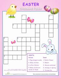Decorate Easter Eggs Crossword by Easter Crossword Puzzle For Kids Worksheets Easter And