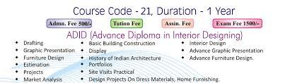 Interior Design Courses Interior Design Fees For Interior Designing Course Home Design