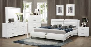 White Bedroom Collections Coaster Felicity Platform Bedroom Set White 300345 Bed Set At