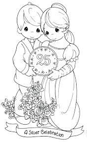 personalised wedding colouring book printable precious moments