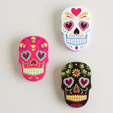 Sugar Skull Bathroom Sugar Skulls Candy Tin Set Of 6 World Market