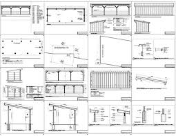 12x36 run in shed plans