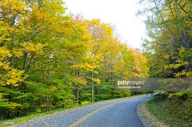 fall colors road ohio usa stock photo getty images
