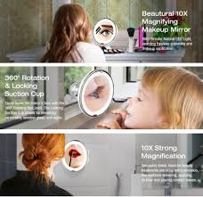 Magnifying Makeup Mirror With Light Amazon Com Beautural 10x Magnifying Lighted Vanity Makeup Mirror