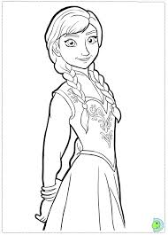 peaceful design anna frozen coloring pages print anna
