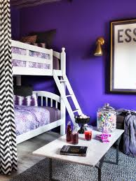 Purple Bunk Beds Update A Bunk Bed With Paint And Drapery Panels Hgtv