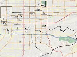 Citrus College Map Boundary Map Covina Valley Unified District