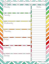 printable weekly calendars weekly calendar template
