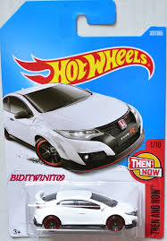 matchbox honda wheels 2017 then and now u002716 honda civic type r 1 10 white