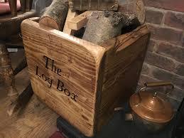 solid wood fireplace log baskets u0026 holders ebay