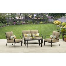 Outdoor Coffee Table Set Better Homes And Gardens Wellington Hills 4 Piece Conversation Set