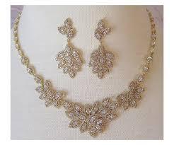 gold jewelry sets for weddings bridal swarovski necklace registaz