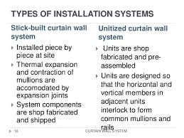 Stick System Curtain Wall Curtain Wall Skin Of Building