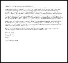 ceo recommendation letter recommendation letters livecareer