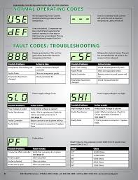 normal operating codes fault codes troubleshooting true