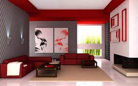 interior design wonderful red and white living room with red