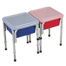 sand and water table with lid ecr4kids active play 2 station square sand and water table with lids