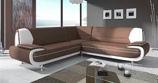 canapé d angle marron deco in canape d angle design marron et blanc marita xl