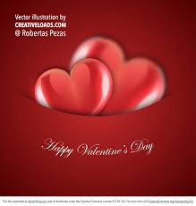 Design For Valentines Card Free Vector Card Hearts Design