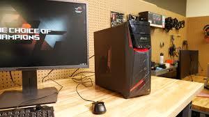 long gaming desk asus g11df gaming desktop review digital trends