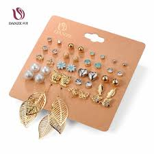 ear studds danze 20 pairs pack set brincos mixed stud earrings for women