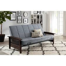 better homes and gardens mission wood arm futon multiple colors