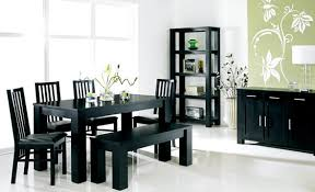 Black Wood Dining Table Black Dining Room Sets With 1 Black Wood Table And 6 Black