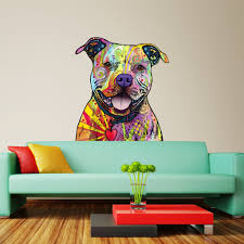 dog stencils stickers and coordinating home decor beware of pit bulls wall sticker cut out animal pop art by dean russo