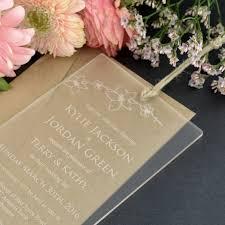 acrylic wedding invitations u2013 gangcraft net