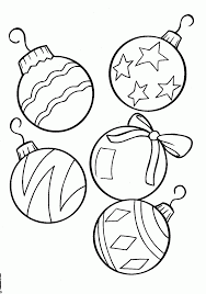 download coloring pages free christmas ornaments coloring pages