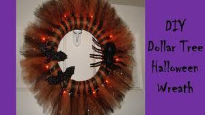 Halloween Wreath Diy Diy Dollar Tree Halloween Wreath Youtube