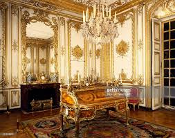 hall of mirrors seen from apollo room palace of versailles