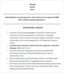 recruiting manager resume template recruitment manager resume sle sle hr template hr manager