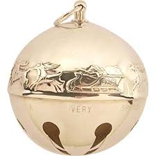 vintage wallace sleigh bells ornament year 1972