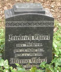 Bild: Fritz Ehlert geb 1871. Grabstein an der Kirche in Meinberg - ehlert-fritz-1871und-minna