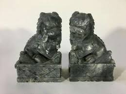 foo dog bookends pair of green foo dogs bookends 1013074 home garden in south