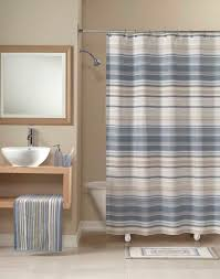 transition striped fabric shower curtain curtainworks com