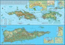 Map Puerto Rico Puerto Rico U0026 Us Virgin Islands Travel Map Itm U2013 Mapscompany