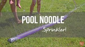 How To Build A Backyard Pool by How To Make A Simple Diy Pool Noodle Sprinkler Bite Sized Biggie