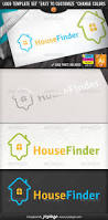 online home search map pointer house finder logo house finder