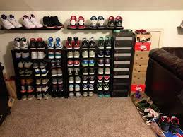 Shelves For Shoes by Furniture Shelving For Shoes In Closet Closed Shoe Stand Shoe