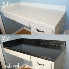 Paint Kitchen Countertop by Diy Faux Granite Countertops With Giani U003d