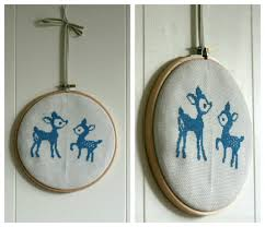 deer cross stitch by claireabellemakes project sewing cross